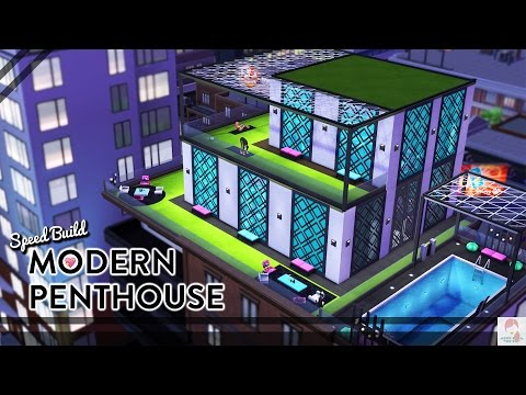 MODERN HAVEN PENTHOUSE // The Sims 4 Speed Build