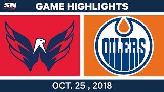 NHL Highlights   Capitals vs. Oilers - Oct. 25, 2018