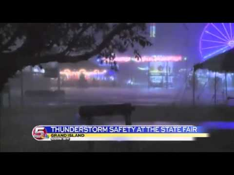 News 5 at 6 - Friday night thunderstorms wash out Nebraska State Fair / August 23, 2014