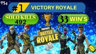 Grind To 500 Solo Kills (488 Kills) FORTNITE (GIVEAWAY)