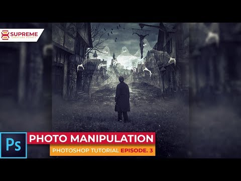 HAUNTED TOWN PHOTO MANIPULATION - Photoshop Tutorial ep 3 (Supreme Creators Agency) thumbnail