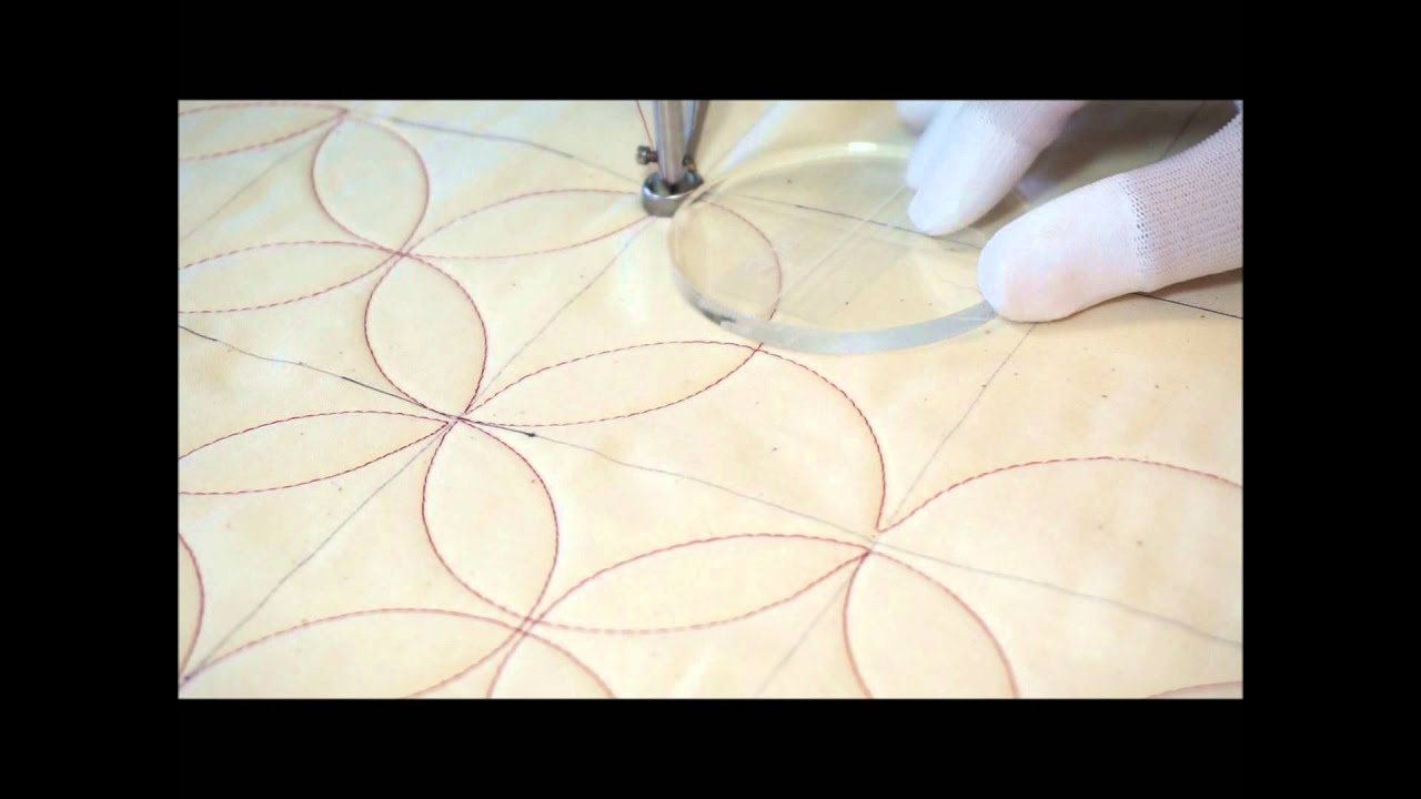 free motion quilting orange peel motif video