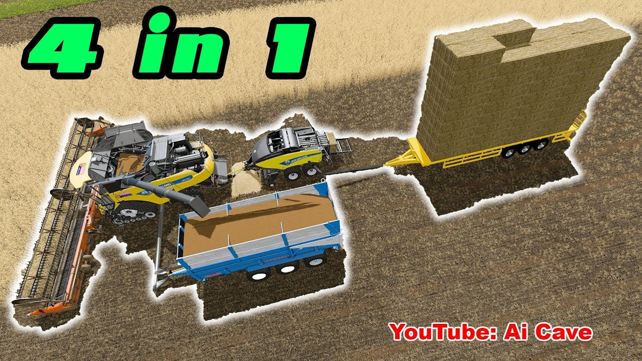 What do you think about this mod? 4 in 1 Harvester, Baler and Trailers -  Farming Simulator 2017
