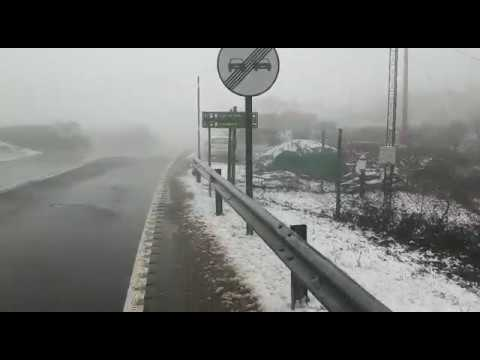 Nieve en O Alto do Poio