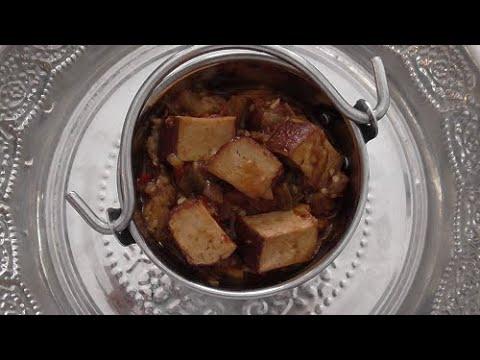 Gerookte Tofu met Aubergine (vegetarisch)