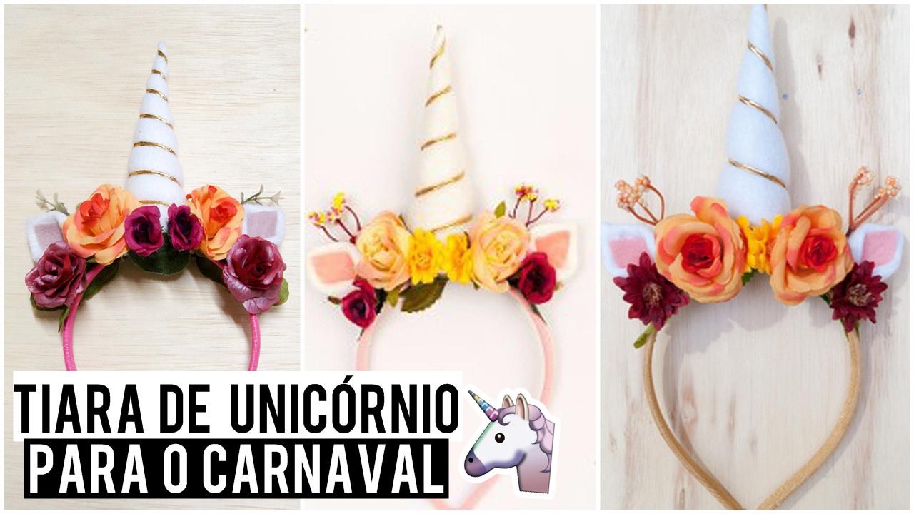 Aparador Vermelho Etna ~ Tiara de Unicórnio para o Carnaval!!! YouTube