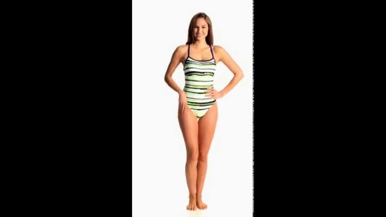 Nike Distressed Stripe Lingerie Tank One Piece Swimsuit ...