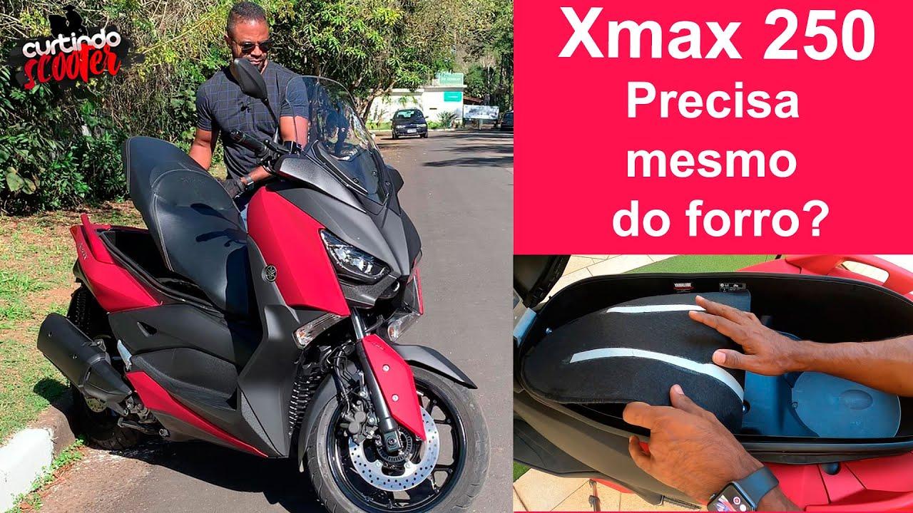 Precisa mesmo de forro embaixo do banco? Yamaha Xmax 250!