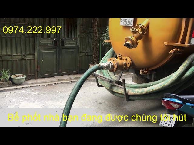 Hút bể phốt cho nhà chị Linh ở Nguyễn Khánh Toàn quận Cầu Giấy