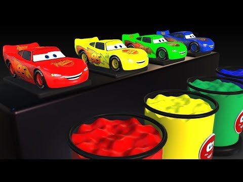 Kids Colors Numbers w Cars Toys Lightning McQueen and Babies Wooden Jump