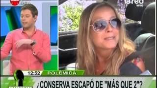 ¿Claudia Conserva se escapó de Más que 2?