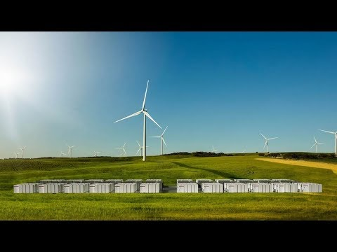 Tesla completes the world's largest battery for an Australian wind farm.