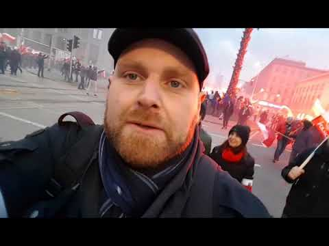 Poland independence day march 2017 Part 2 Euro Wars meets Tommy Robinson