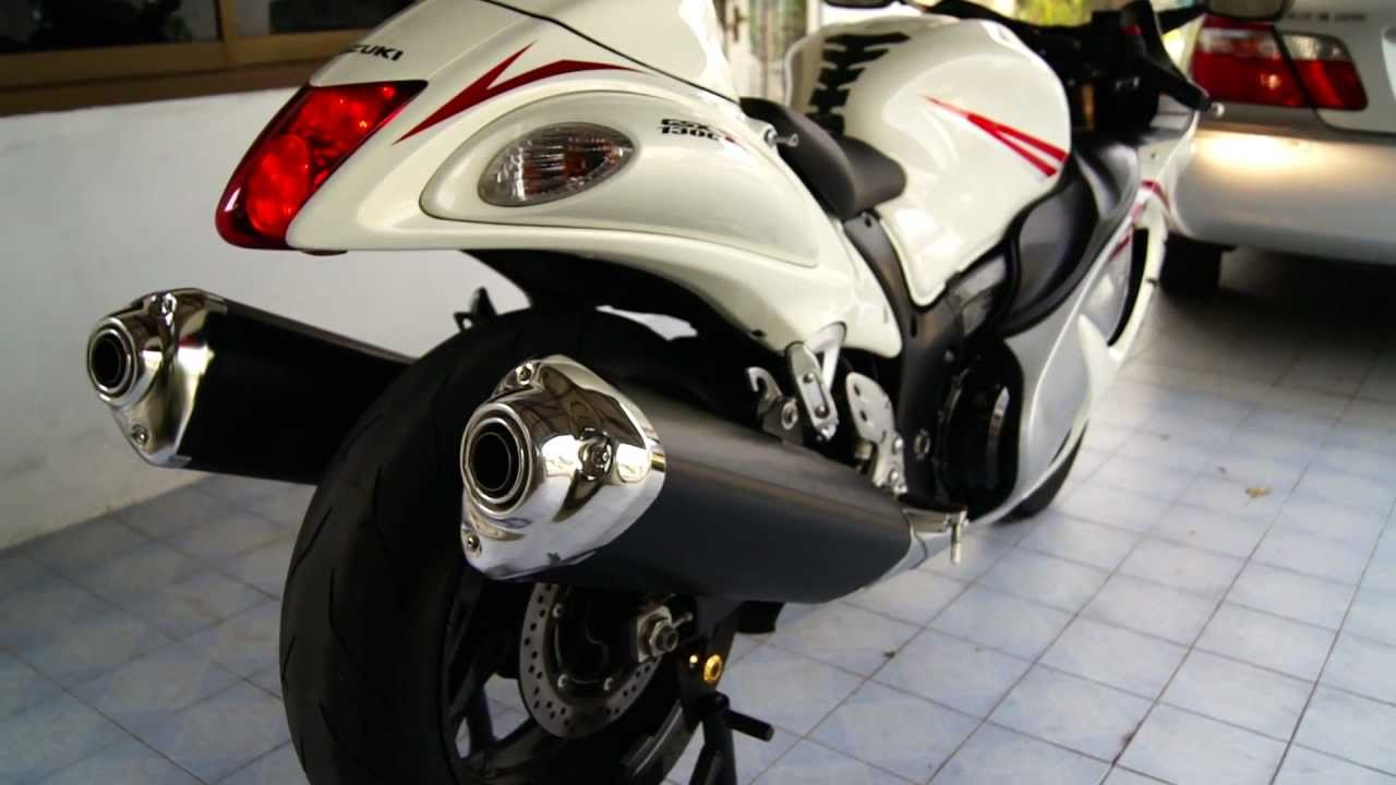 Hayabusa 08 Standard Exhaust Sound - YouTube