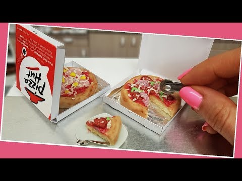 Mini pizza cake, hawaii pizza cake, Jenny's mini cooking, real mini cake,  ミニチュア, tiny food