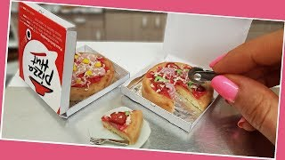 Mini pizza cake, hawaii pizza cake, Jenny's mini cooking, real mini cake,  ミニチュア, tiny food