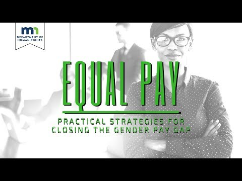 """MnDHR: """"Equal Pay"""" -  Practical Strategies for Closing the Gender Pay Gap   Webinar"""