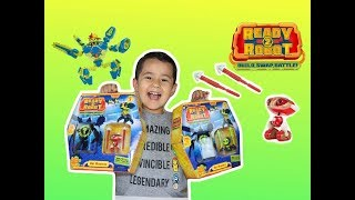 READY 2 ROBOT Bot Blasters toy UNBOXING, SLIME robot toys review