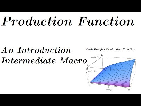 The Production Function Model, An Introduction - Intermediate Macroeconomics