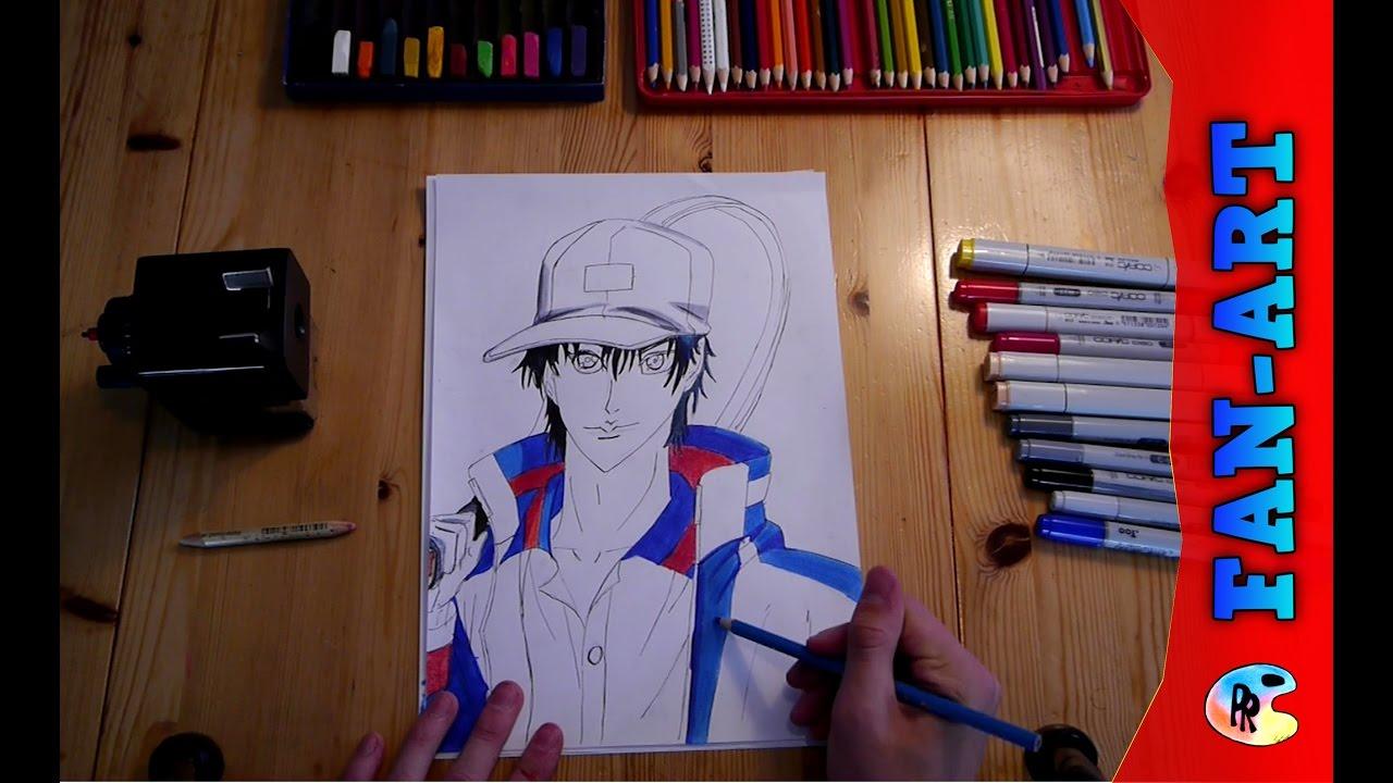 Anime manga fanart prince of tennis fanart speed drawing prince of tennis ryoma manga art