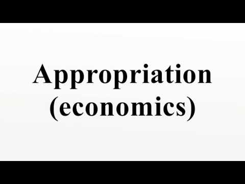 Appropriation (economics)