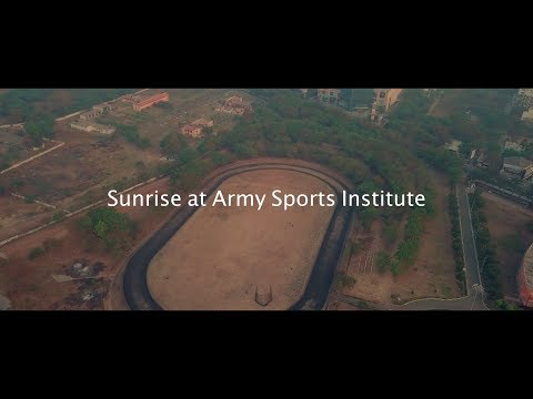 Sunrise at Army Sports Institute, Pune | Drone Diaries