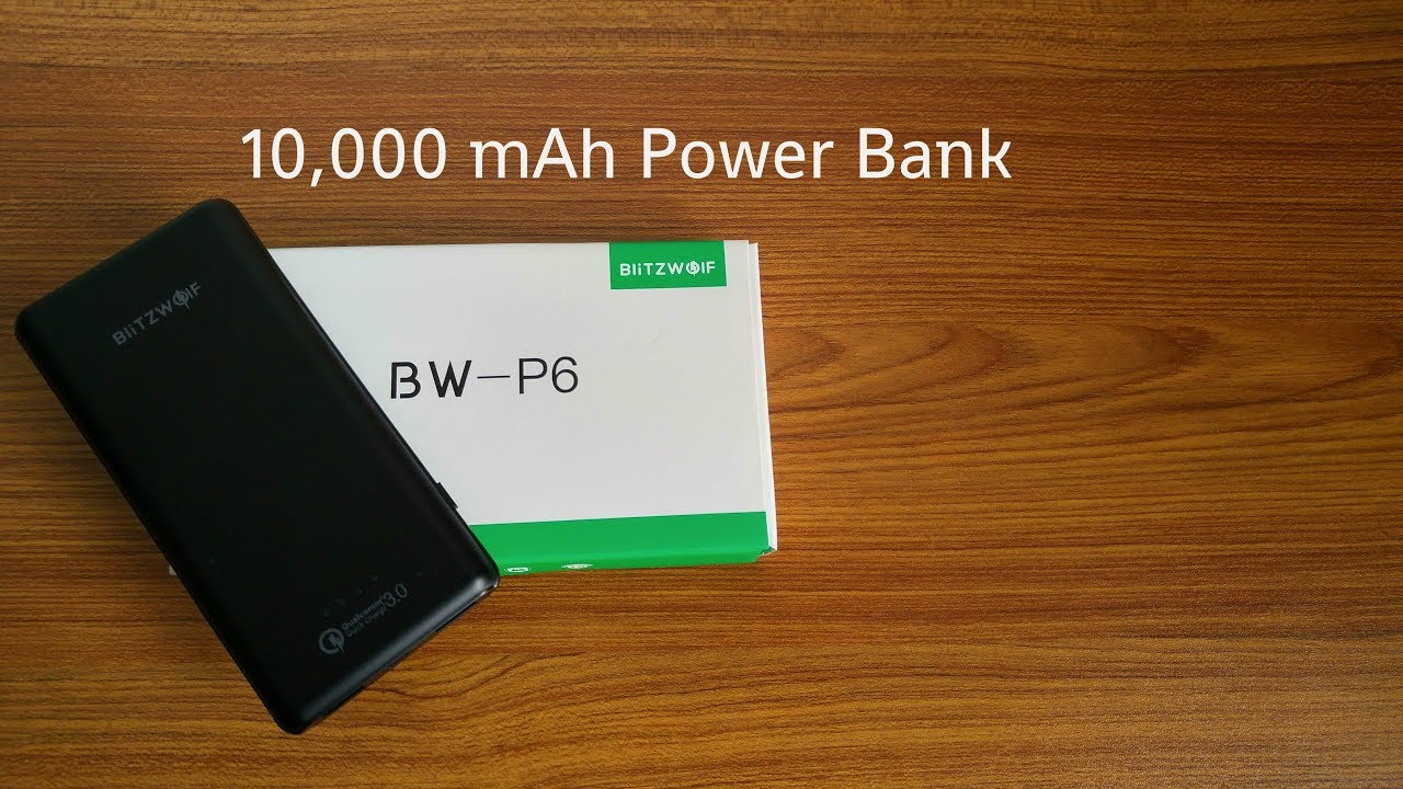 Blitzwolf BW-P6 10000mAh Power bank - Review & Unboxing [HD]