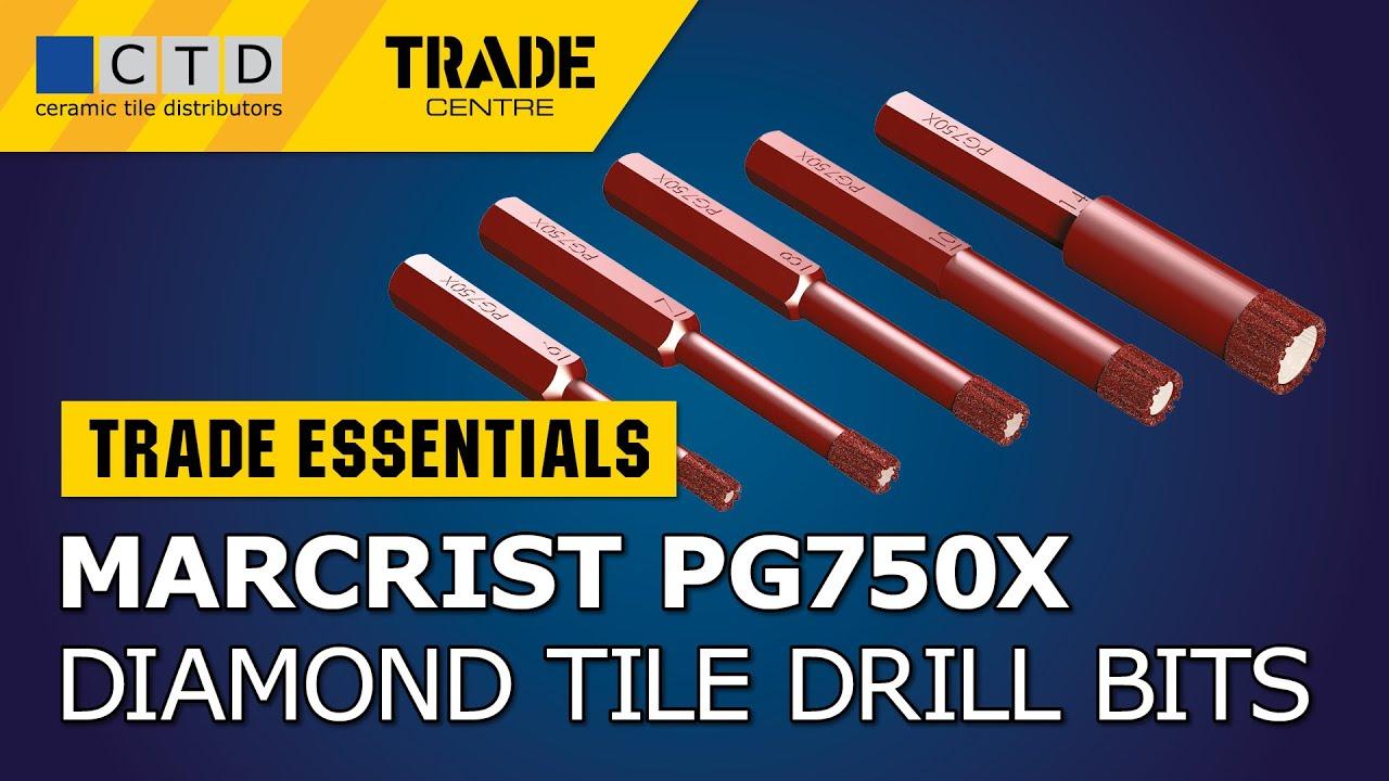 Marcrist PG750X Dry Diamond Tile Drill Bits