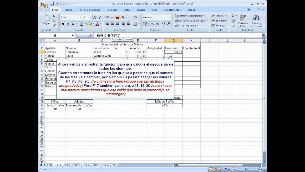 Excel - Función SI con calculo de porcentaje - YouTube