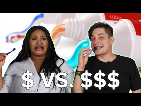 People Try Cheap Vs. Expensive Toothpaste