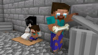 Monster School : HEROBRINE FAMILY WAS HOMELESS - Minecraft Animation