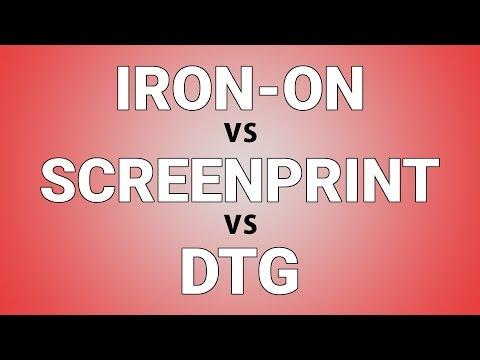 T Shirt Printing Options: Iron-on, Screenprint, DTG - 417 South St, Philadelphia, PA 19147
