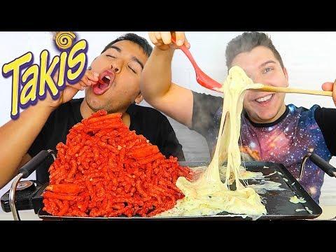 Takis Challenge With Cheese • MUKBANG
