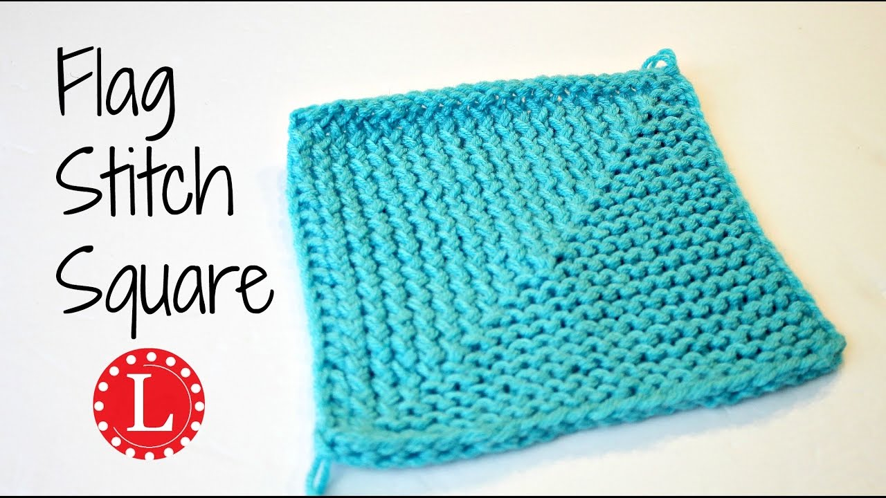 LOOM KNITTING Stitch Flag Square - Great for Blankets   Loomahat ...