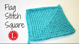 LOOM KNITTING Stitch Flag Square - Great for Blankets | Loomahat