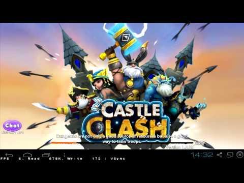 Bluestacks & Castle Clash - How To Use It - PART 1