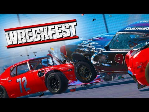 I LANDED IN THE CROWD!  Wreckfest with The Crew!