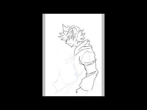 Roxas - Speedpaint (Ibis Paint X)
