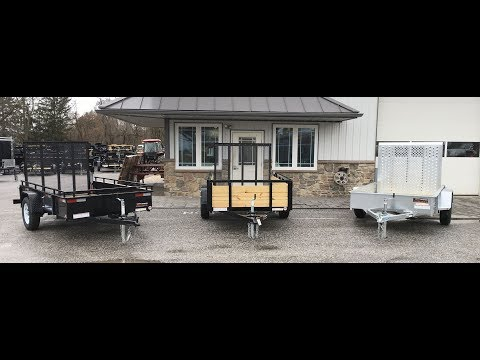 Sure Trac Single Axle Solid Side Utility Landscape Trailer Comparison 2990# GVW