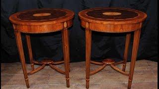 Antique Regency Furniture - Walnut Side Cocktail Tables