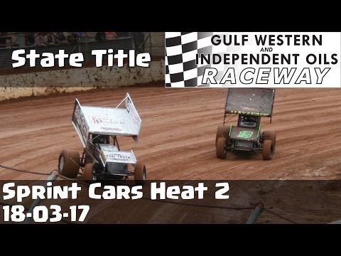Sprint Cars State Title Heat 2 - Latrobe Speedway 18-03-17