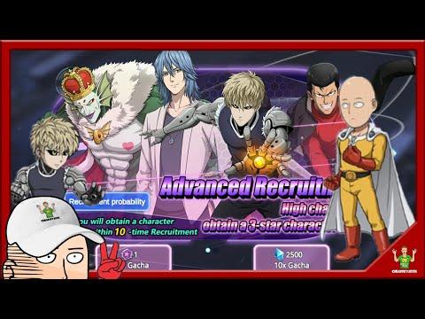 x20 Advanced Recruitment Summonings - One Punch Man: Road to Hero Gameplay #1