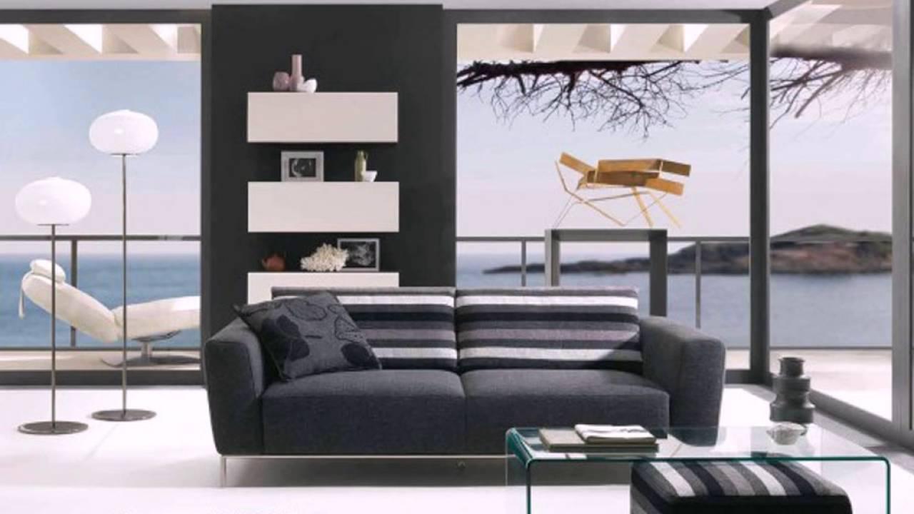 Modern Living Room Glass Wall Design