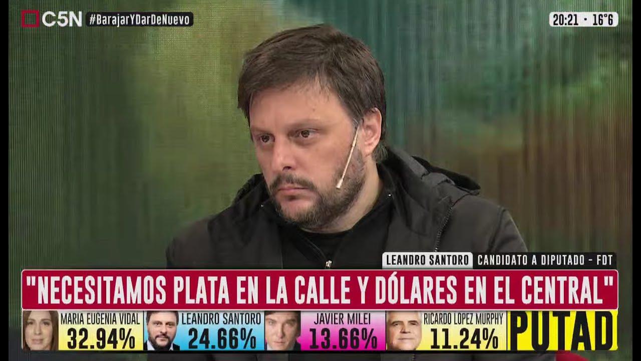 """Download Leandro SANTORO: """"Necesitamos PLATA en la CALLE y DÓLARES en el CENTRAL"""""""