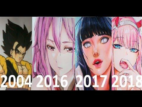 My Art Progress From Age 13-22 (2009-2018)