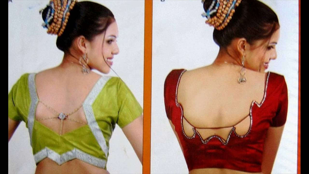 Latest saree blouse design neck - Saree Blouse Back Neck Designs