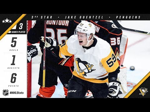 Jake Guentzel takes home third star of the week