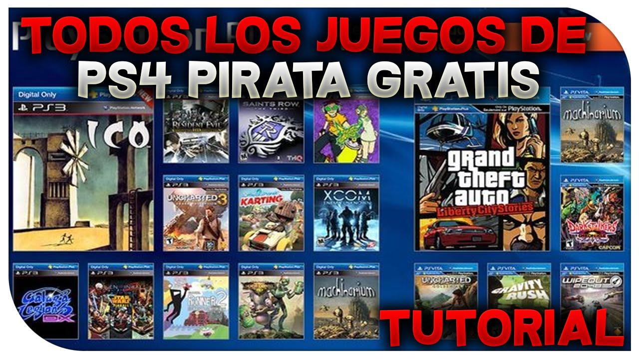 PS4 PIRATA  TENER TODOS LOS JUEGOS GRATIS DE PS4 PARA PS4PIRATA  YouTube