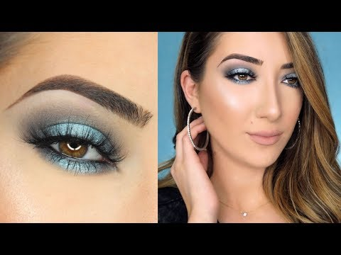 Blue-Gray Halo Smokey Eye Makeup Tutorial