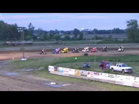 23. Sprint Heat Race #2 at I-96 Speedway, Michigan on 05-26-17.